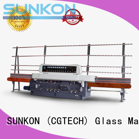 SUNKON glass straight line beveling machine display vertical grinding line