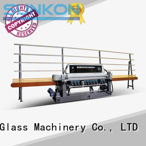 SUNKON plc straight bevelled edger      glass beveling machine beveling display