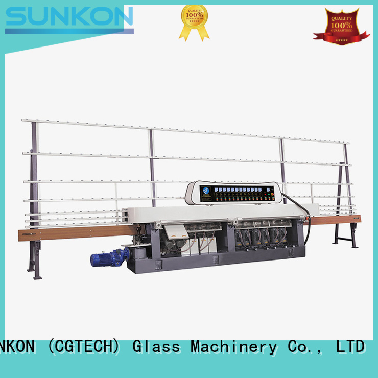 control display flat SUNKON Brand glass straight line beveling machine manufacture