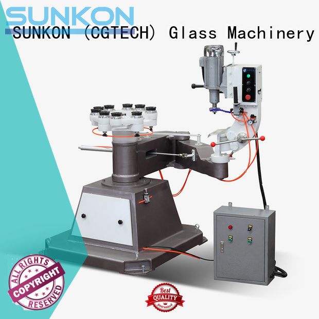 circles glass shape edger SUNKON glass grinding machine price