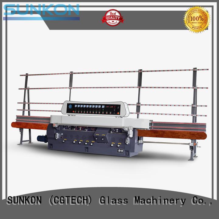 glass straight line beveling machine edging machine motors plc SUNKON