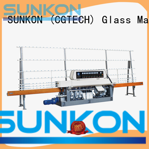 glass straight line beveling machine line digital model grinding SUNKON