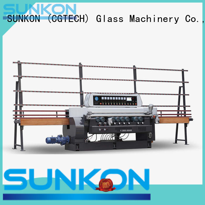 line display function glass beveling machine for sale SUNKON