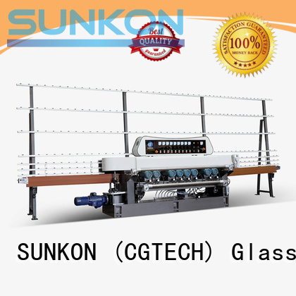 glass beveling machine for sale lifting SUNKON Brand straight bevelled edger      glass beveling machine