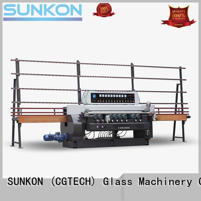 SUNKON digital glass straight bevelled edger      glass beveling machine machine manual