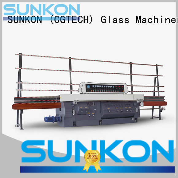 glass edge polishing machine edging miters mitering machine SUNKON Warranty
