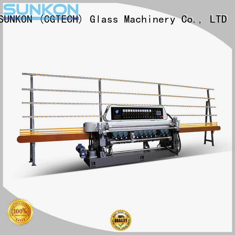 glass beveling machine for sale beveling manual OEM straight bevelled edger      glass beveling machine SUNKON