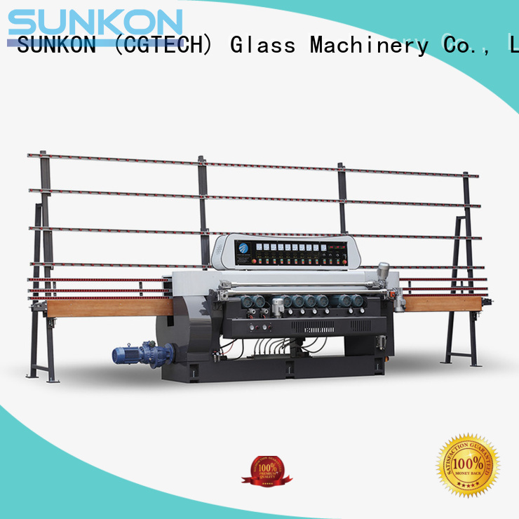 Custom straight bevelled edger      glass beveling machine display control glass SUNKON