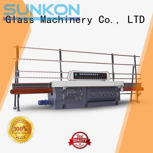 flat motors edging SUNKON glass edge polishing machine