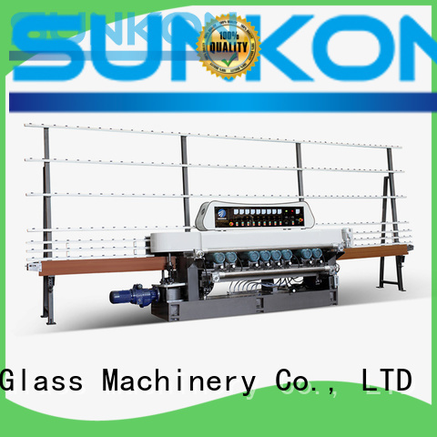 SUNKON Brand digital machine straight bevelled edger      glass beveling machine plc motors