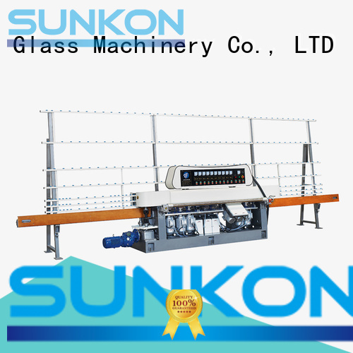 Quality glass straight line beveling machine SUNKON Brand motors straight line edger