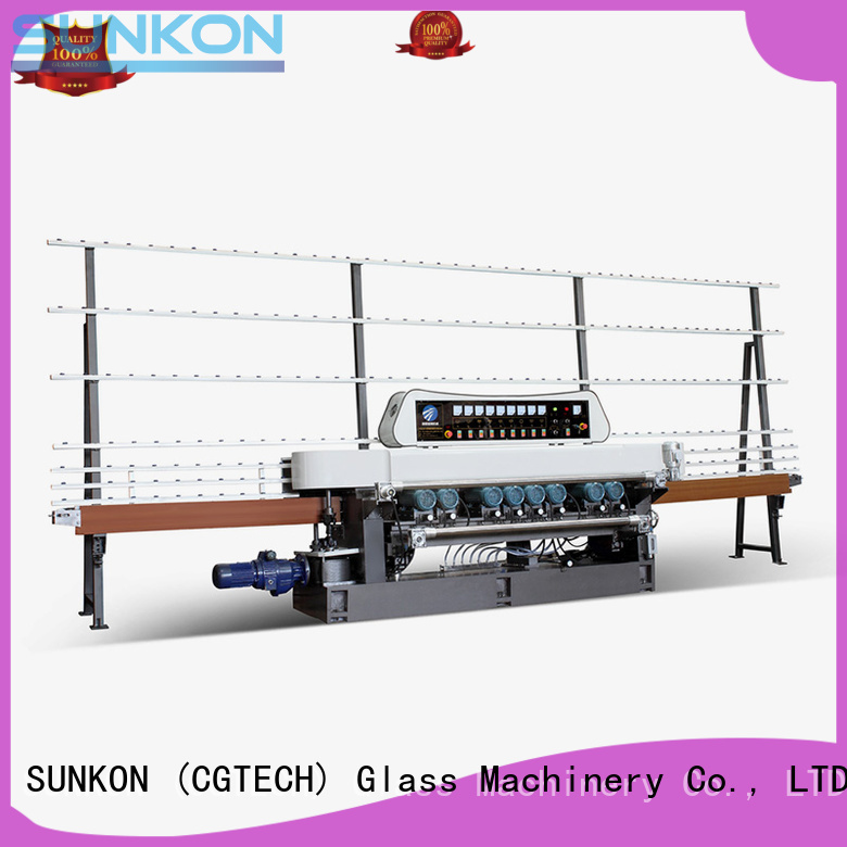 glass beveling machine for sale manual line OEM straight bevelled edger      glass beveling machine SUNKON