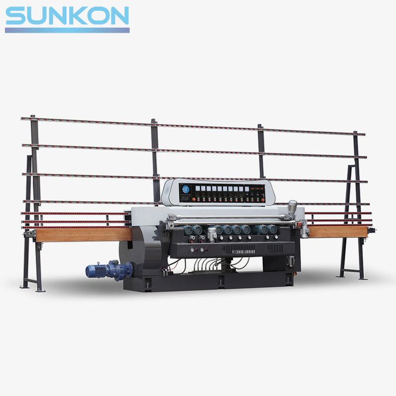 CGX261D 9 Motors Glass Straight Line Beveling Machine with Digital display