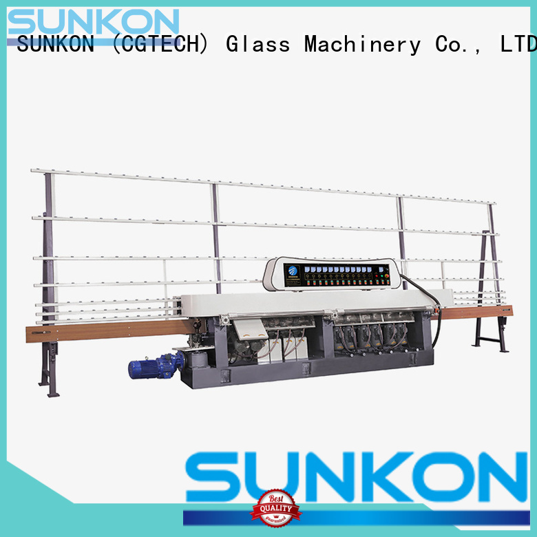 SUNKON straight vertical motors glass straight line beveling machine control