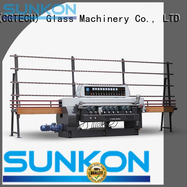 glass beveling machine for sale straight machine straight bevelled edger      glass beveling machine SUNKON Warranty