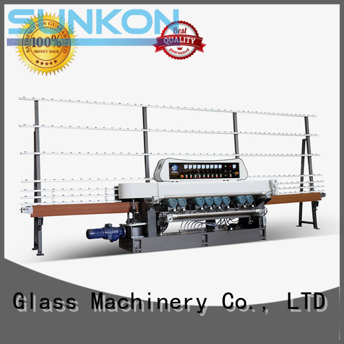 line straight bevelled edger      glass beveling machine lifting display SUNKON