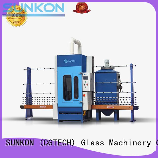 sandblasting autoglass machine machine SUNKON Brand automatic glass sandblasting machine supplier