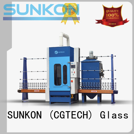 SUNKON automatic glass sandblasting machine sandblasting autoglass machine machine