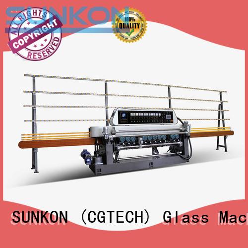 SUNKON Brand plc glass beveling machine for sale glass control