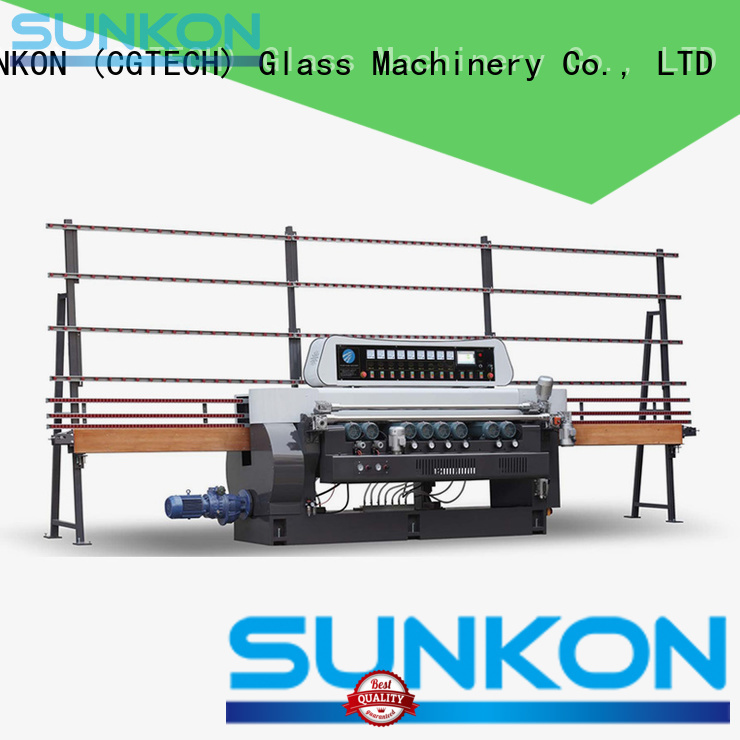 glass beveling machine for sale function manual straight bevelled edger      glass beveling machine SUNKON Brand