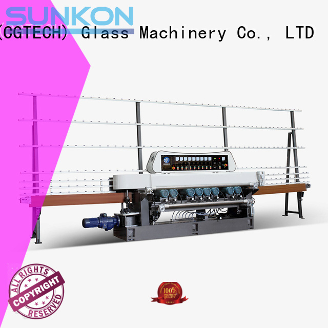 SUNKON Brand lifting display glass beveling machine for sale control motors