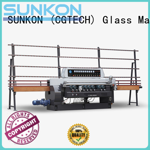 SUNKON line plc straight bevelled edger      glass beveling machine control glass