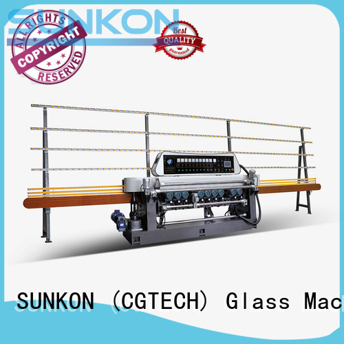 SUNKON Brand digital lifting plc straight bevelled edger      glass beveling machine function