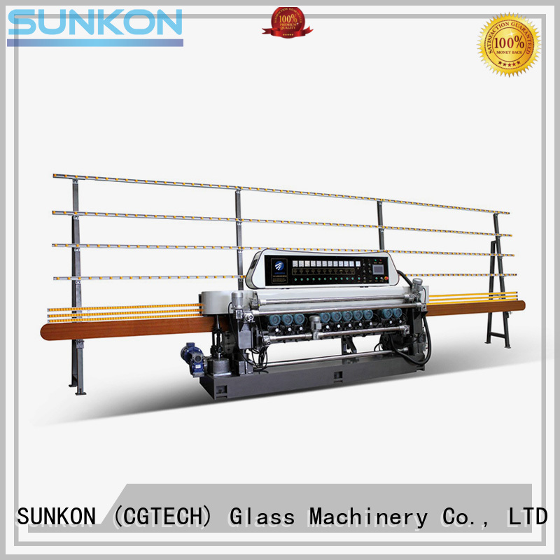 Wholesale machine motors straight bevelled edger      glass beveling machine SUNKON Brand