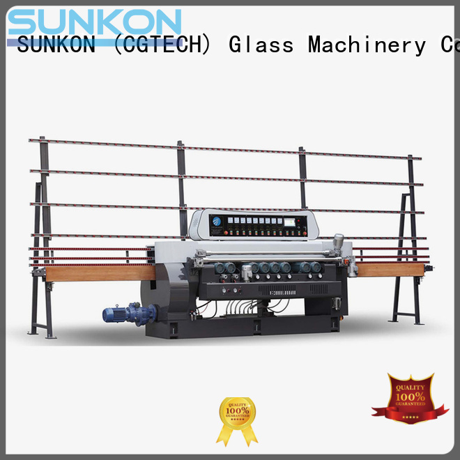 SUNKON machine straight bevelled edger      glass beveling machine lifting plc