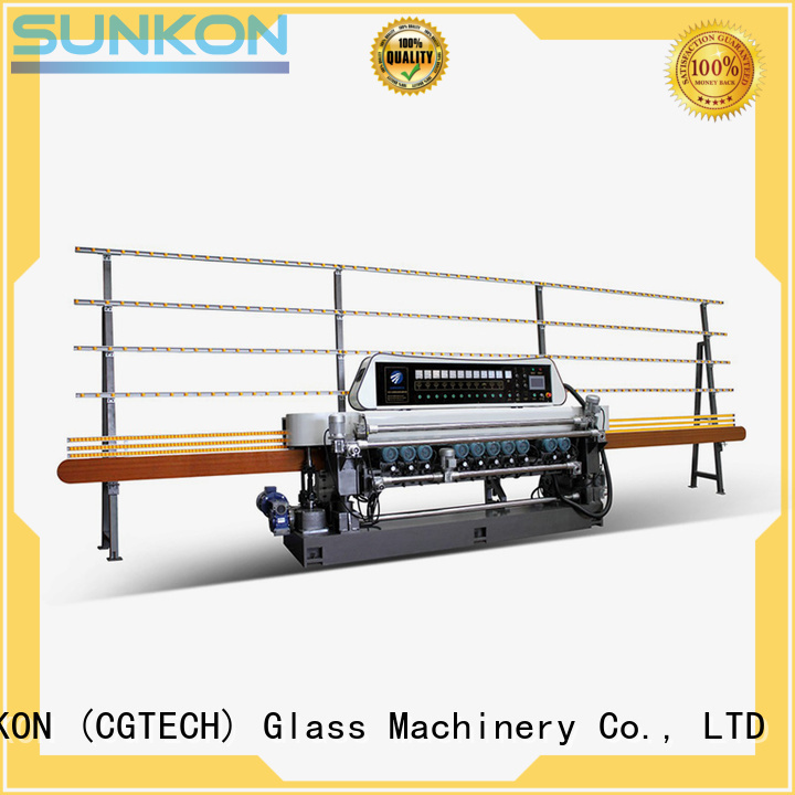 glass beveling machine for sale manual plc beveling lifting SUNKON