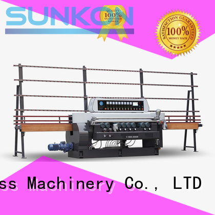 straight lifting glass beveling machine for sale SUNKON manufacture