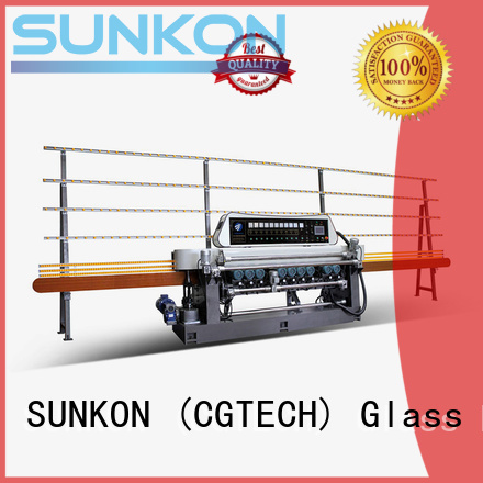 control plc manual line SUNKON glass beveling machine for sale