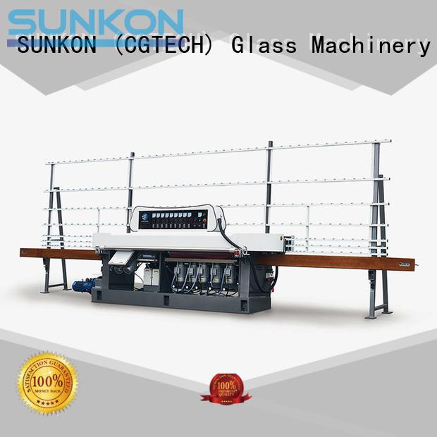 SUNKON glass edge polishing machine motors edging glass flat