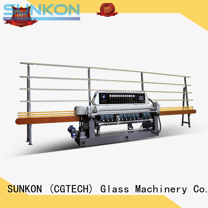 SUNKON Brand lifting digital function custom glass beveling machine for sale