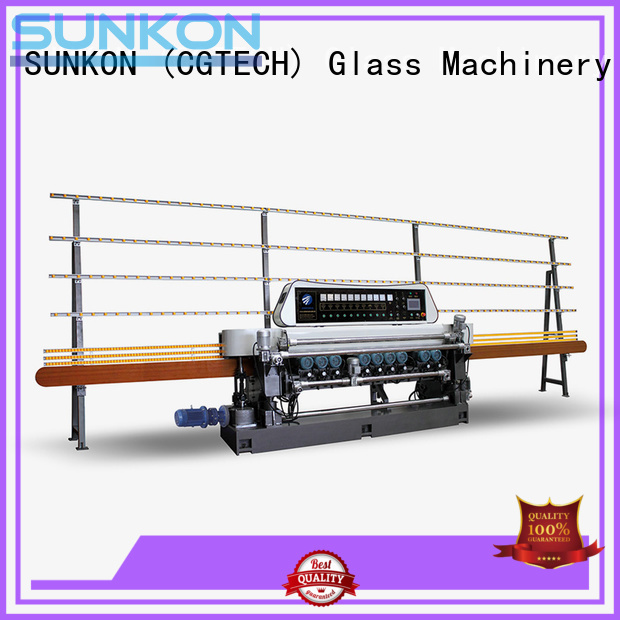 glass beveling machine for sale manual motors straight bevelled edger control SUNKON Brand
