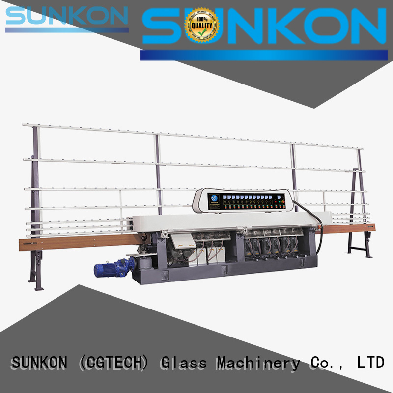 glass straight line beveling machine flat straight line edger edging SUNKON