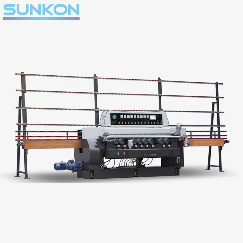 CGX261P 9 Motors Glass Straight Line Beveling Machine with PLC Control