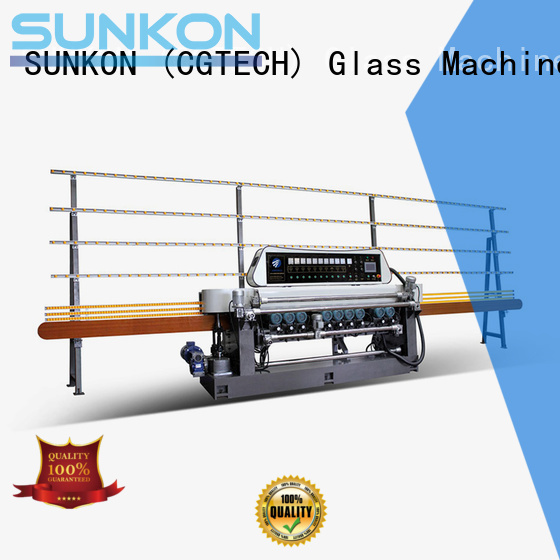 SUNKON Brand glass straight glass beveling machine for sale beveling function