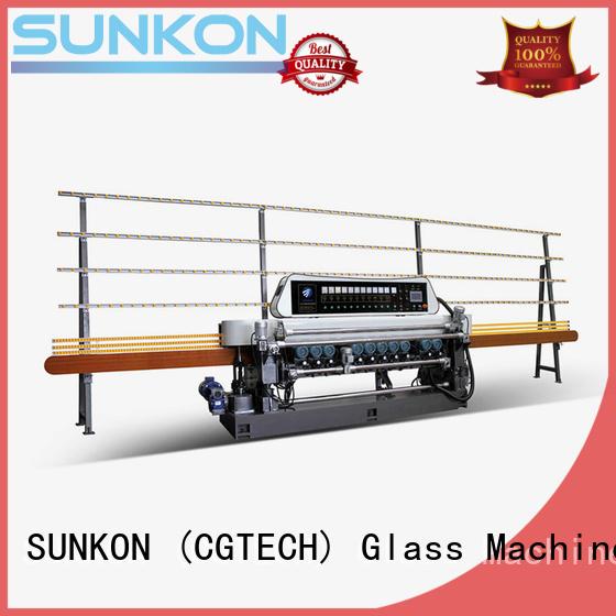 plc straight line glass beveling machine for sale SUNKON