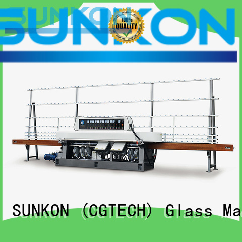 SUNKON Brand grinding manual vertical glass straight line beveling machine