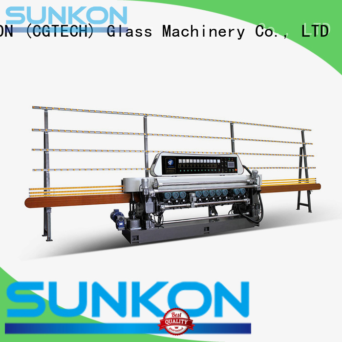 Hot glass beveling machine for sale manual lifting display SUNKON Brand