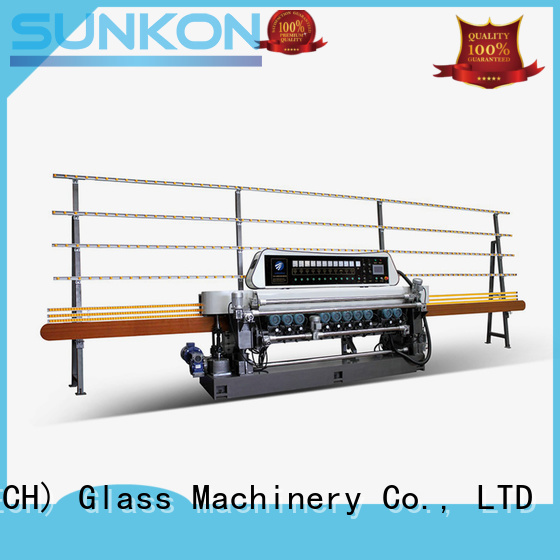 glass beveling machine for sale straight motors straight bevelled edger control SUNKON Brand