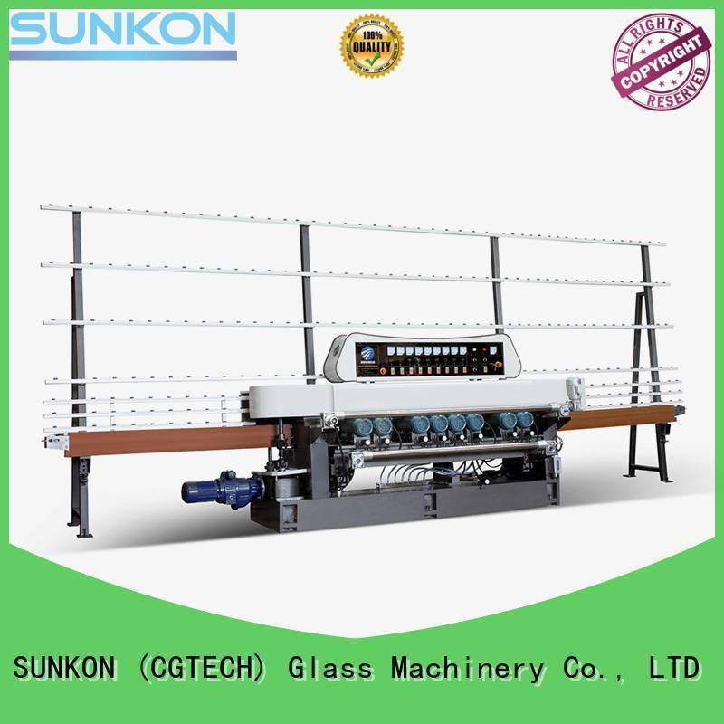 SUNKON motors straight bevelled edger      glass beveling machine control display