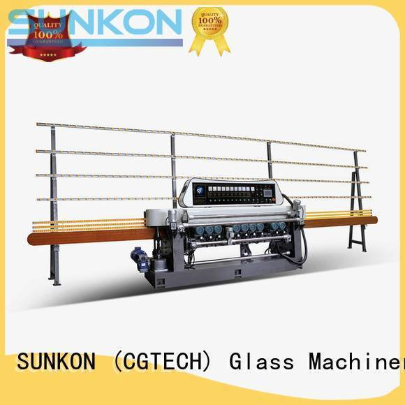 SUNKON machine display glass glass beveling machine for sale line