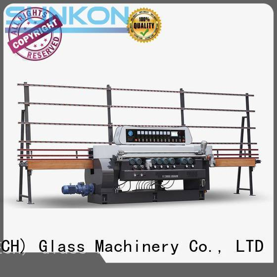 SUNKON Brand lifting plc display straight bevelled edger      glass beveling machine machine