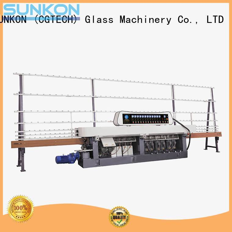 glass straight line beveling machine edging plc straight line edger SUNKON Brand