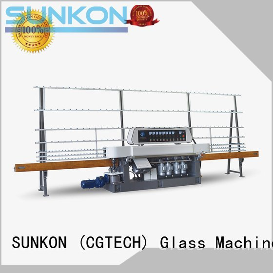 Hot glass straight line beveling machine digital straight line edger motors SUNKON