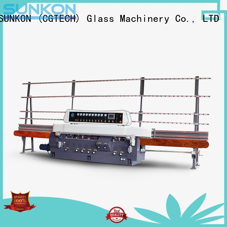glass straight line beveling machine vertical straight line edger SUNKON Brand