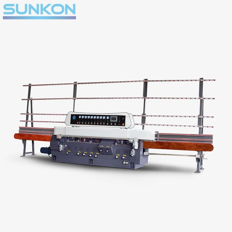 CGZ9325P 9 Motors Glass Straight Line Edging Machine with PLC Control