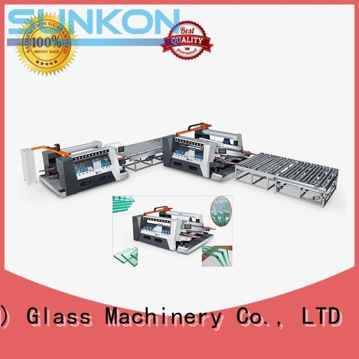 SUNKON glass double edging machine straight edging highspeed double